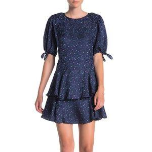 Rebecca Taylor – Ruffled Polka Dot Silk Dress